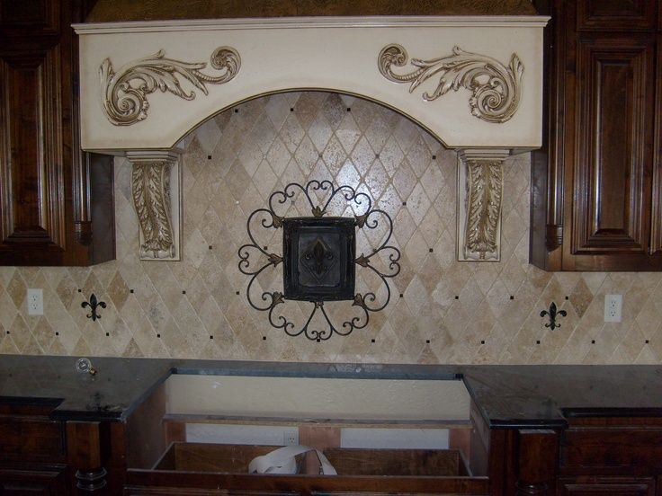Kitchen Design, Backsplash Fleur De Lis Kitchen Decor Under ...
