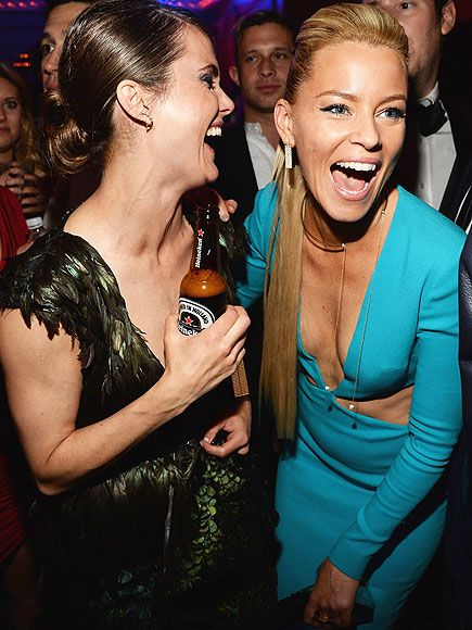 Star Tracks: Tuesday, May 5, 2015   GIRL TALK   What's so funny? Actresses Keri Russell and Elizabeth Banks are in the know Monday at Rihanna's private Met Gala afterparty in N.Y.C.