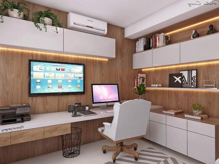 70 Awesome Contemporary Home Office Ideas Homedecorideas Homeofficeideas Homedecoraccessori Home Office Layouts Small Home Office Layout Home Office Layout