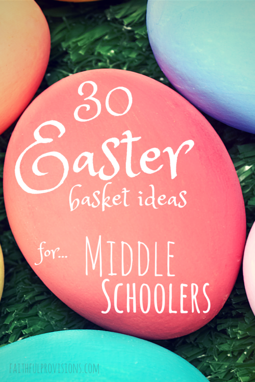 30 easter basket gift ideas for middle schoolers negle Gallery