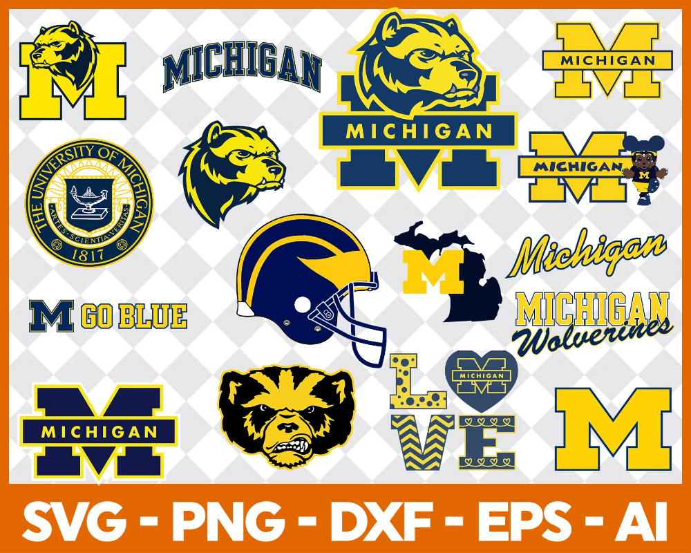 Michigan Wolverines SVG,SVG Files For Silhouette, Files