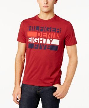 7c3a88ef TOMMY HILFIGER TOMMY HILFIGER MEN'S GRAPHIC-PRINT LOGO T-SHIRT. # tommyhilfiger #cloth #