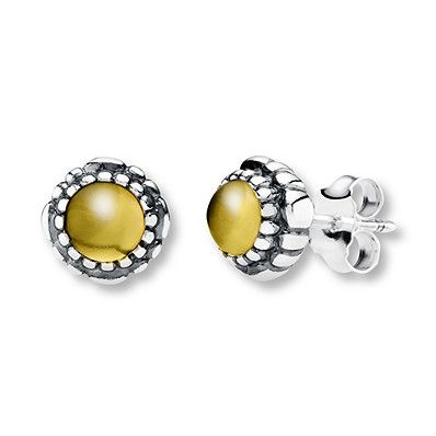 55b9d55cf Pandora Earrings Citrine Sterling Silver in 2019 | Products ...