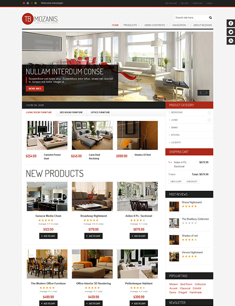 drupal themes online store