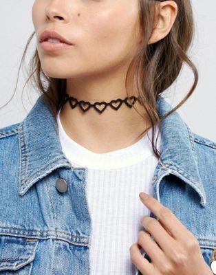 ASOS Open Hearts Choker Necklace