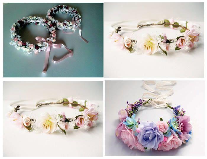 Corona o diadema de flores paso a paso | fotos 2 | Manualidades, DIY ...