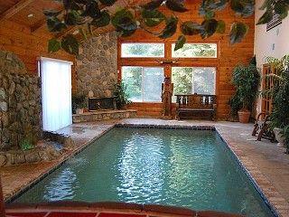 039 Tahoe Castle 039 Extreme Luxury Indoor Pool Waterfall Steam Saunavacation Vacation Home Rentals Lake Tahoe Vacation Rentals Amazing Swimming Pools