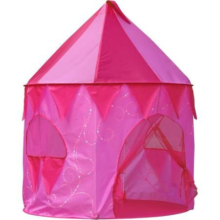 Little girls Fun Princess Tower Play Tent mesh curtain doors carrying case Pink - anger coupon  sc 1 st  Pinterest : play tents for girls - memphite.com