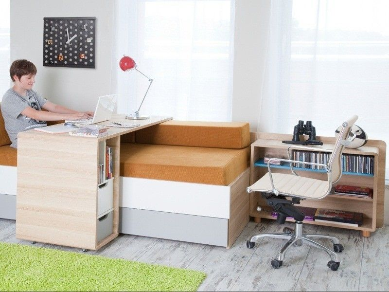 ce bureau mobile roulettes est parfaitement adapt au lit canap evolve il permet votre. Black Bedroom Furniture Sets. Home Design Ideas
