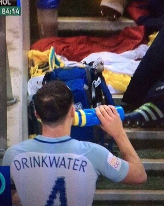 Danny drinkwater drinking water.