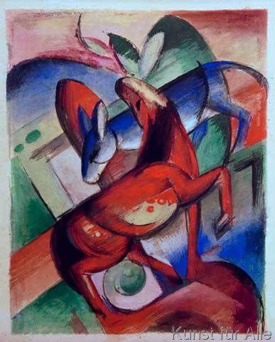 Franz Marc - Pferd und Esel