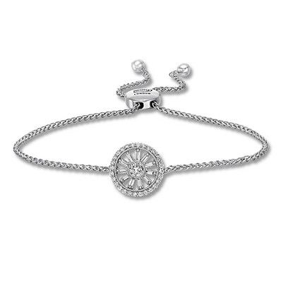 94a32a699d4ecd Emmy London Diamond Bolo Bracelet 1/2 ct tw 10K White Gold in 2019 ...