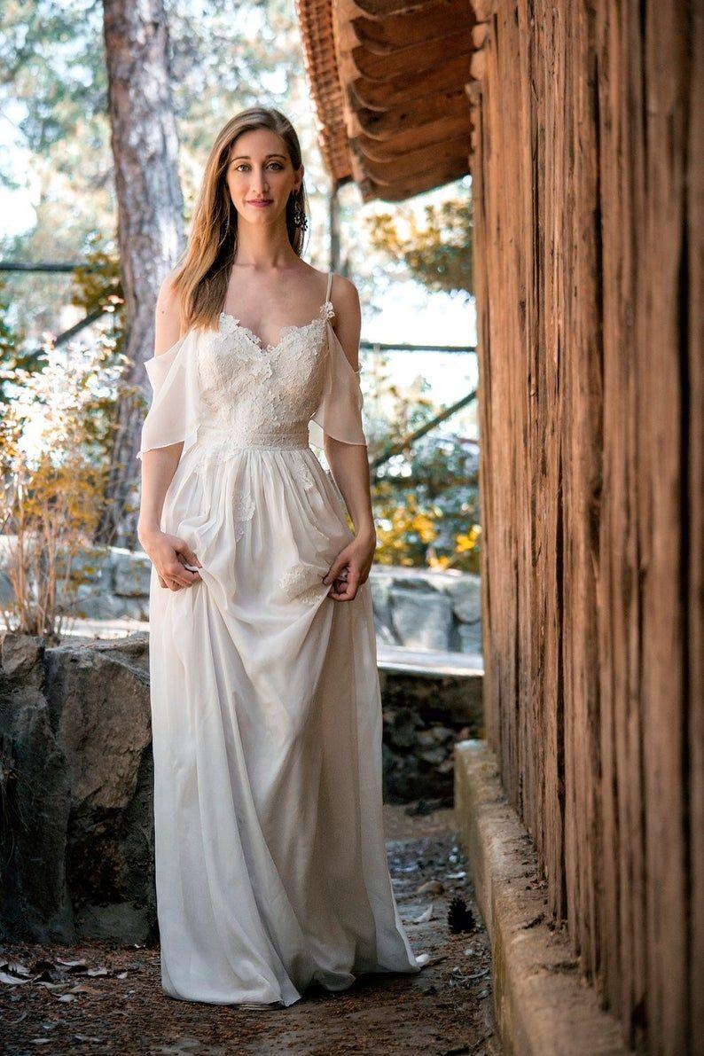 Erna Handmade Summer Beach Wedding Dress For Bride Grecian Etsy Summer Wedding Dress Beach Wedding Dresses Grecian Wedding [ 1191 x 794 Pixel ]