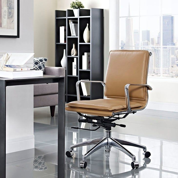 Sage Mid Back Office Chair In Tan