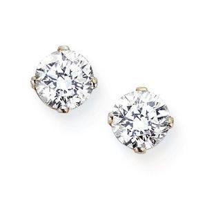 These Gorgeous Diamond Stud Earrings Are Set In 14 Karat White Gold And Feature 24