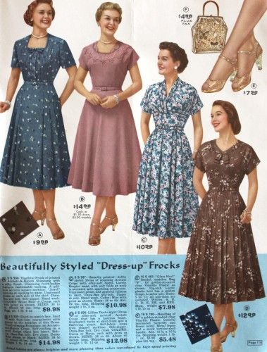 5a3d42cfa384c 1950s Plus Size Fashions for Your Body Type. 1950s dresses marketing for plus  sizes (Yes I know they don t look