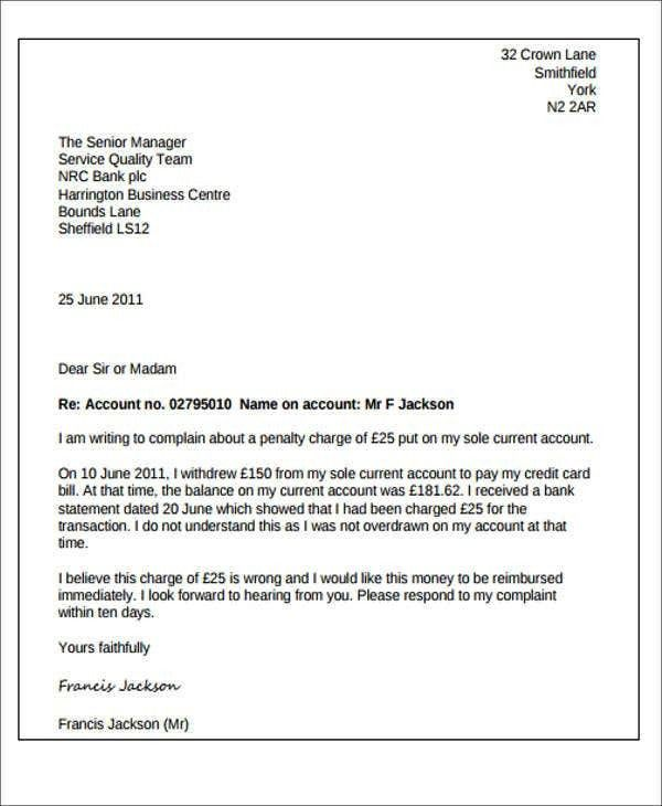 reopening bank account request letter