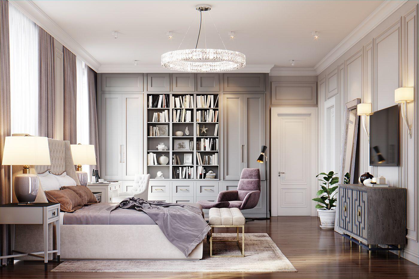 Bedroom And Children Room On Behance Classic Bedroom Room Interior Architecture Design Classic bedroom for children
