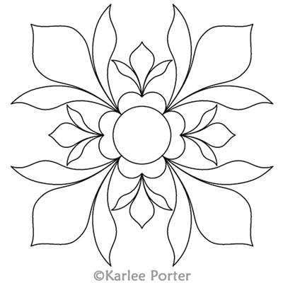Pretty Block 18 Karlee Porter Computerized Quilting Designs Blumen Zeichnen Quilts Kunstfliesen
