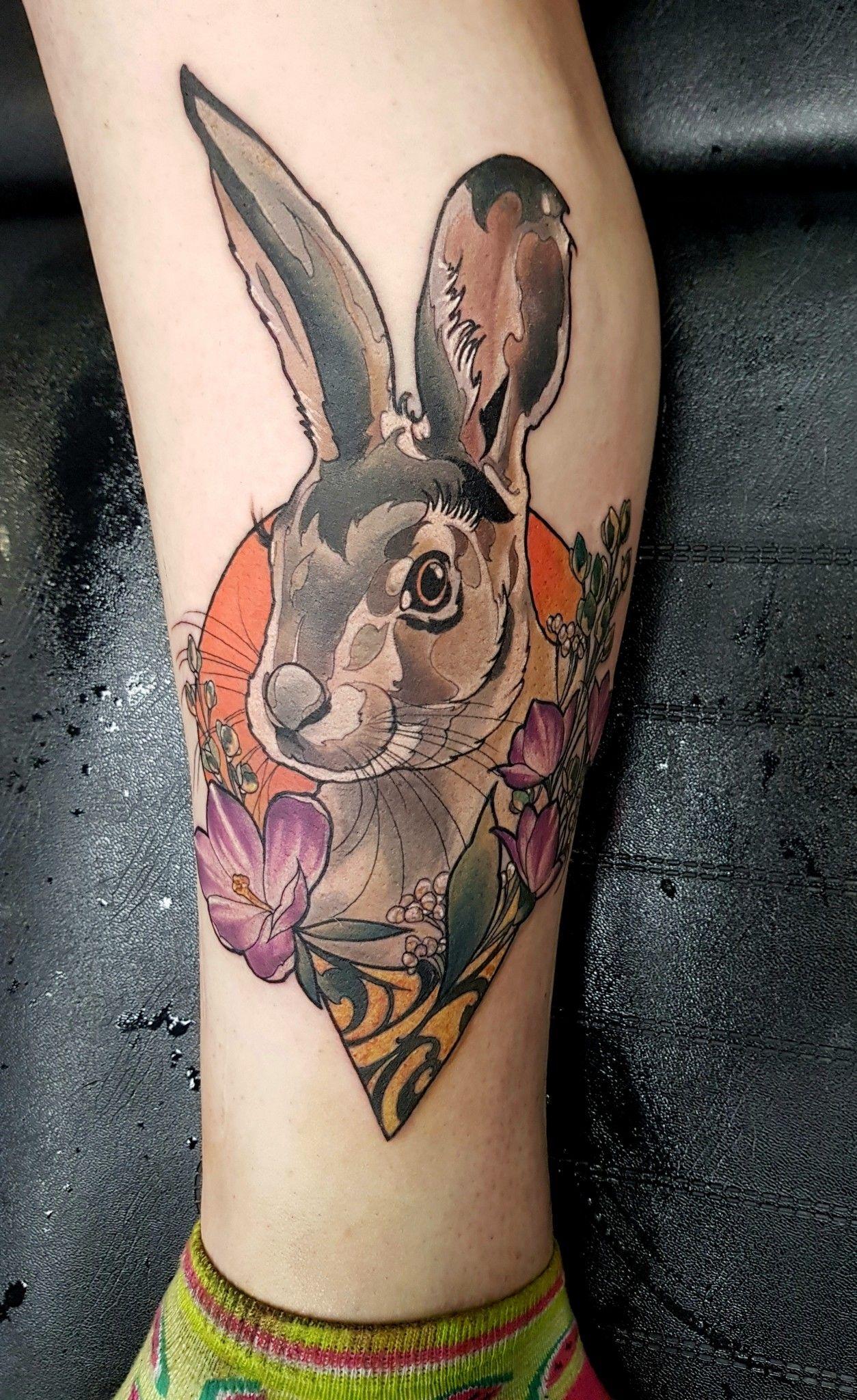 8f60c4199 新學院 兔子 P Tattoo, Get A Tattoo, Color Tattoo, Rabbit Tattoos,