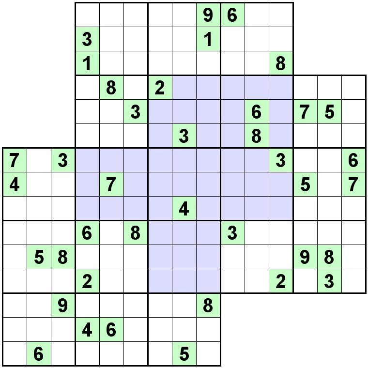 Number Logic Puzzles: 24338 - Sudoku size 9