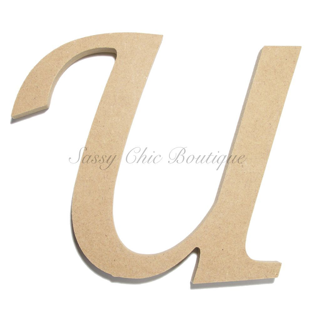 Unfinished Wooden Uppercase Letter U