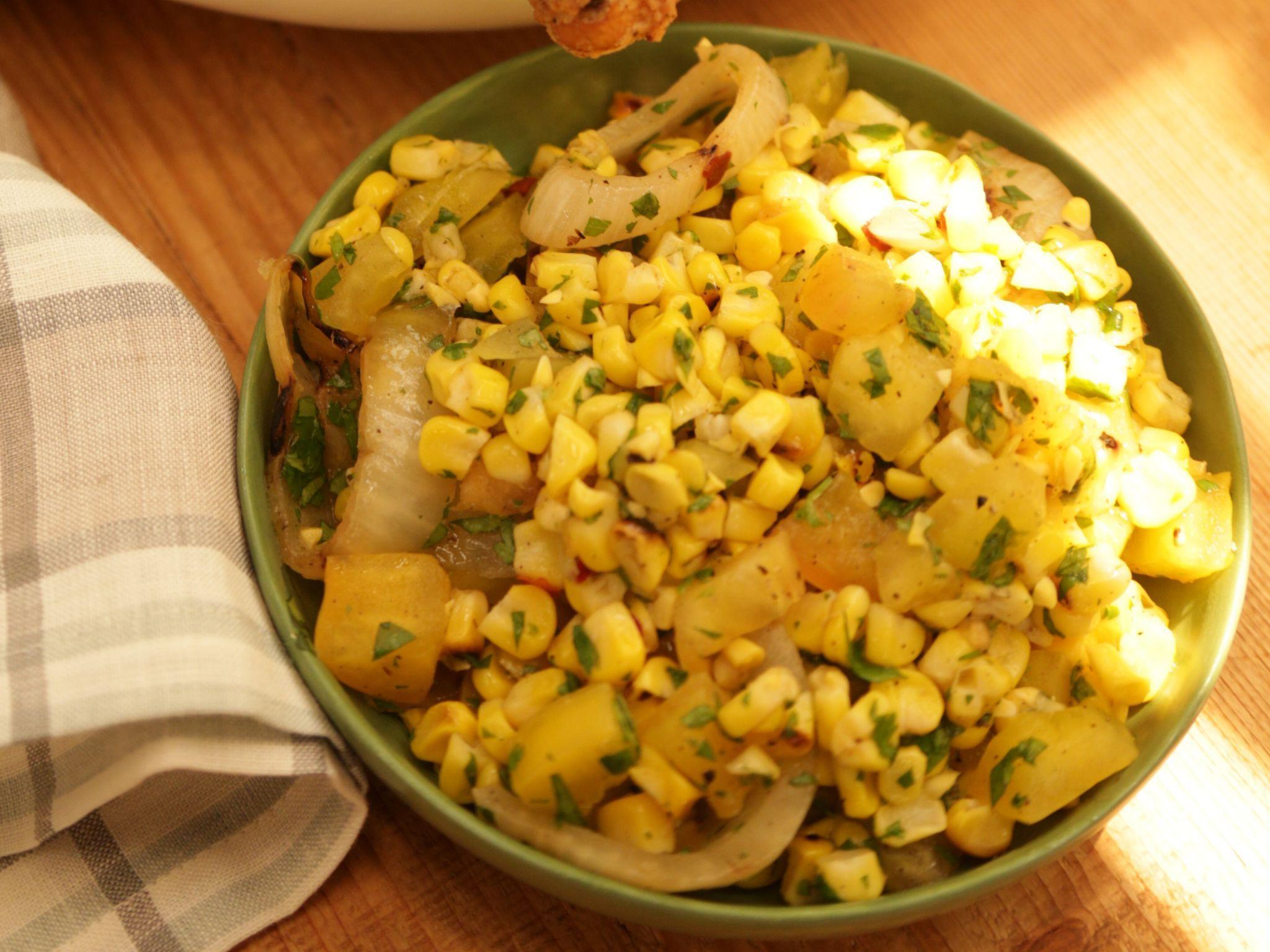 Corn and Vidalia Onion Salad recipe from The Kitchen via Food Network