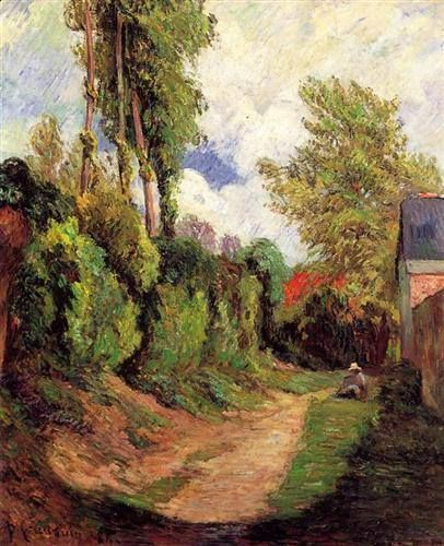 Sunken Lane - Paul Gauguin, 1884