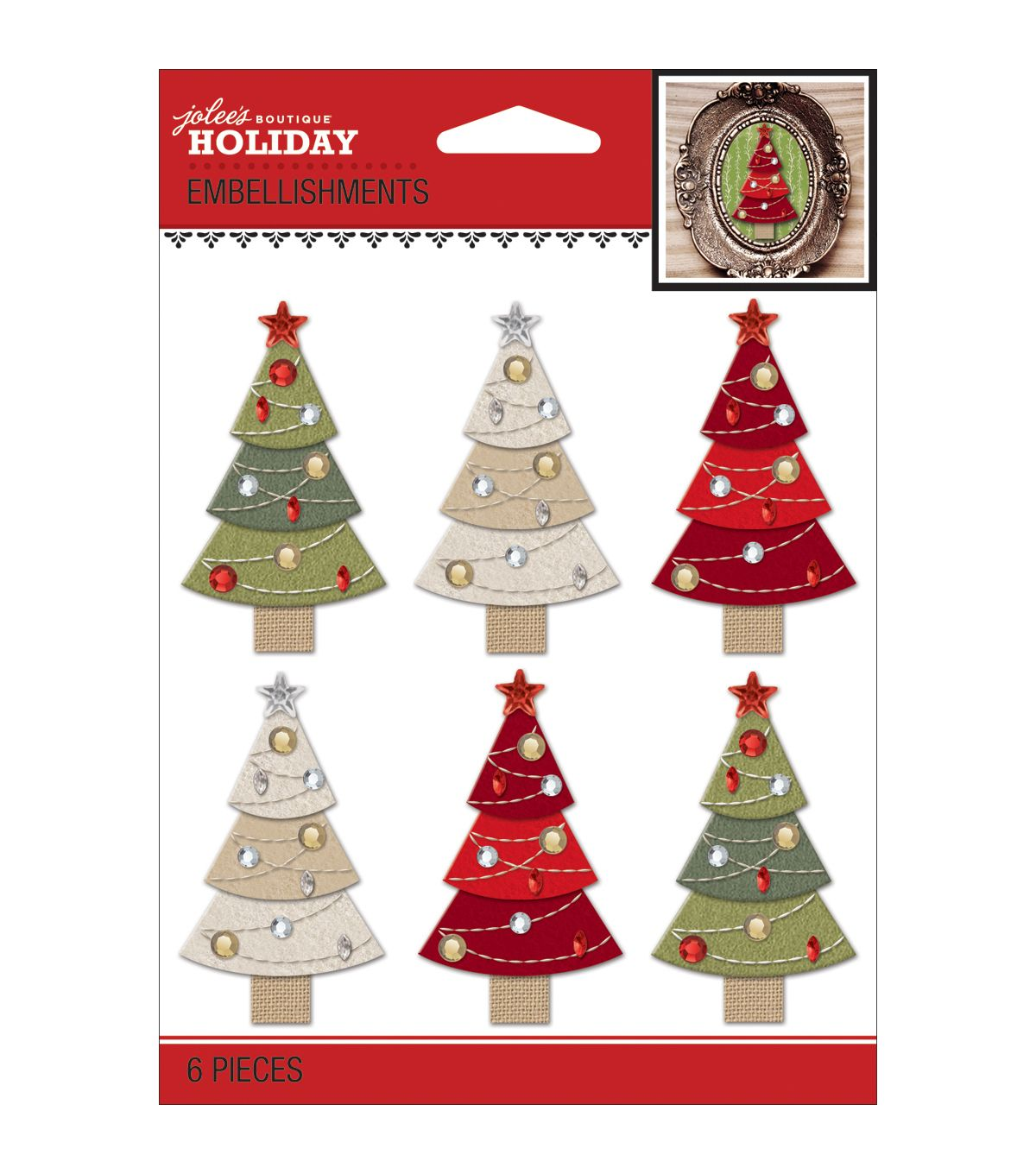 Jolee's Christmas Stickers-Christmas TreesJolee's Christmas Stickers-Christmas Trees,