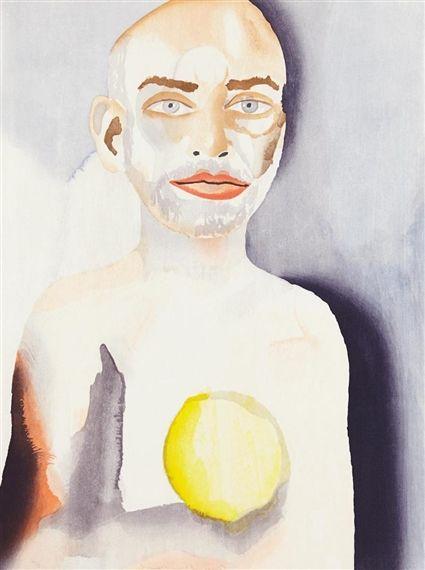 Francesco Clemente, Self-Portrait with Lemon Heart