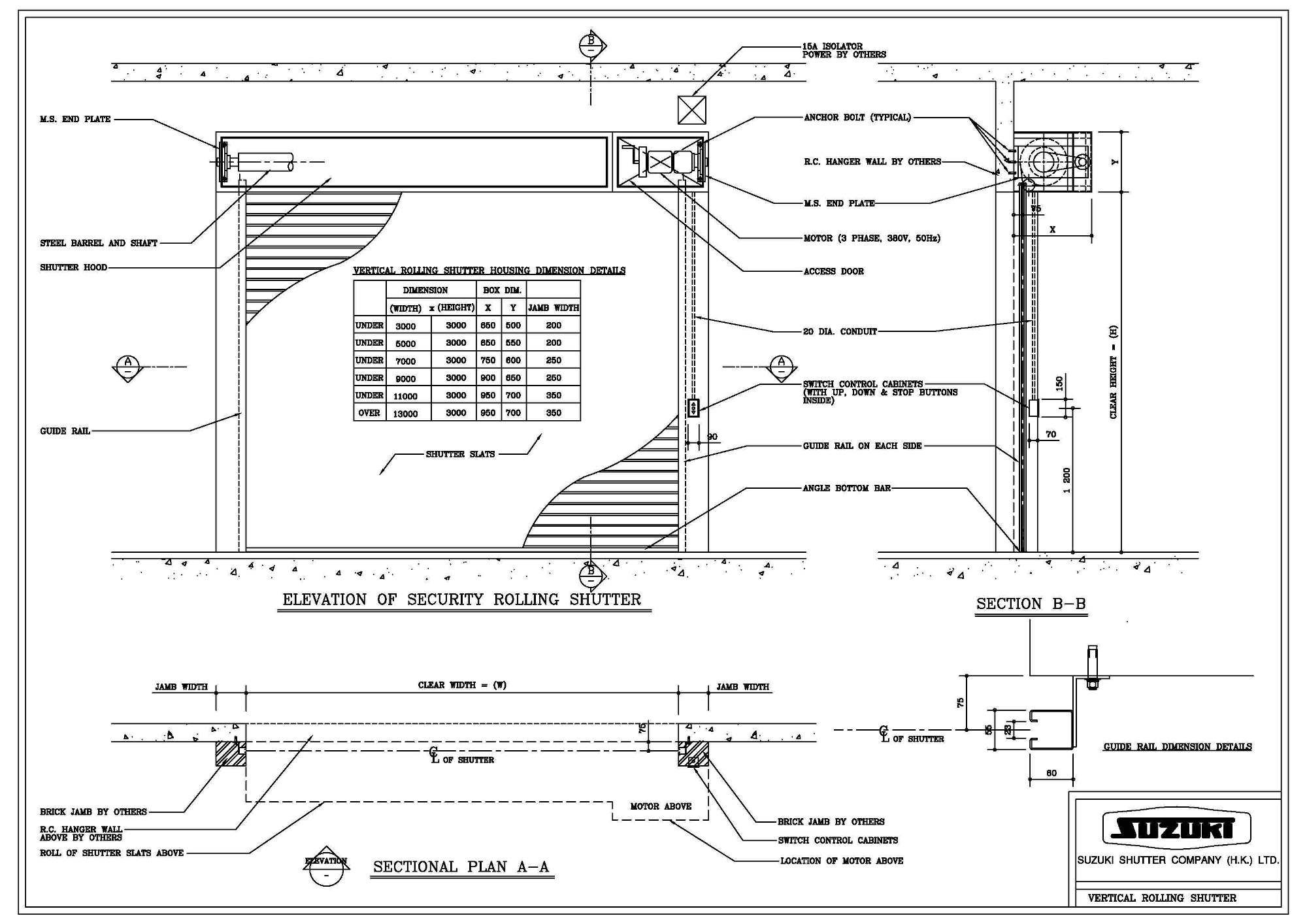 Sliding Garage Door Dwg