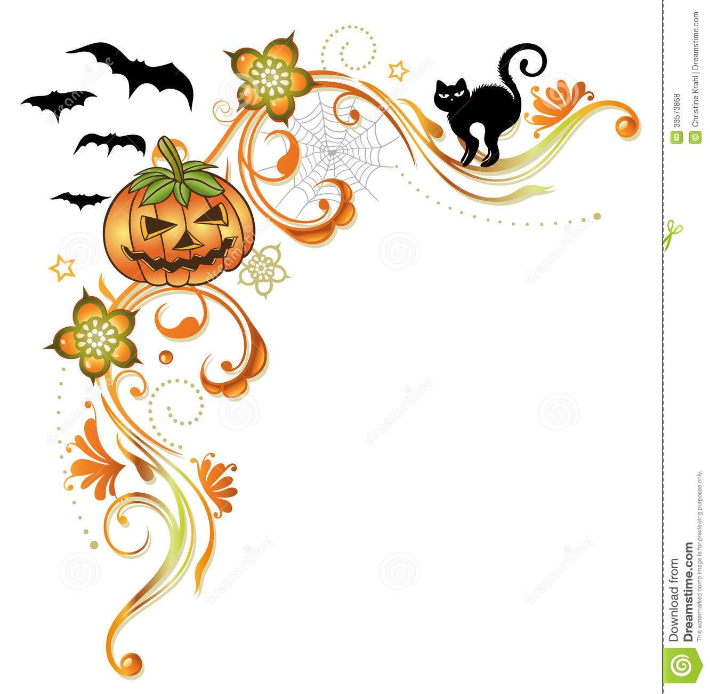 free halloween clip art halloween borders pumpkins halloween border  [ 1332 x 1300 Pixel ]