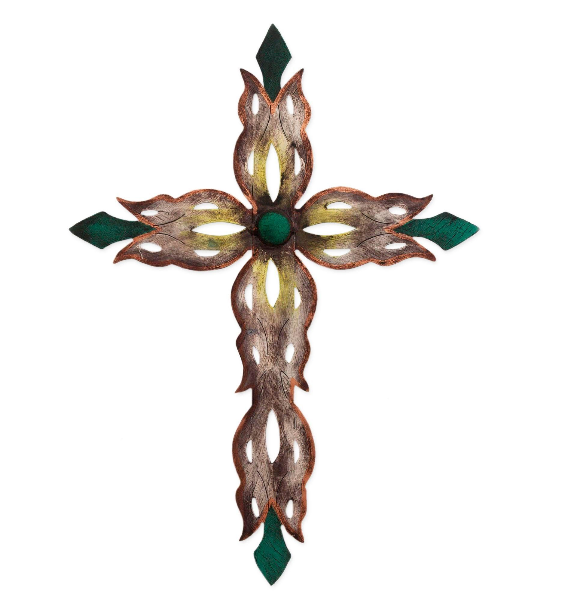 Alejandro de esesarte handcrafted religious steel christian cross