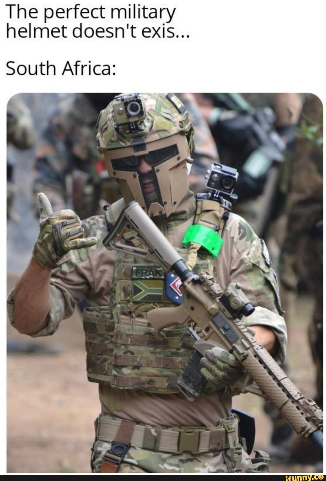 The Perfect Military Helmet Doesn T Exis South Africa Ifunny Military Helmets Military Military Humor