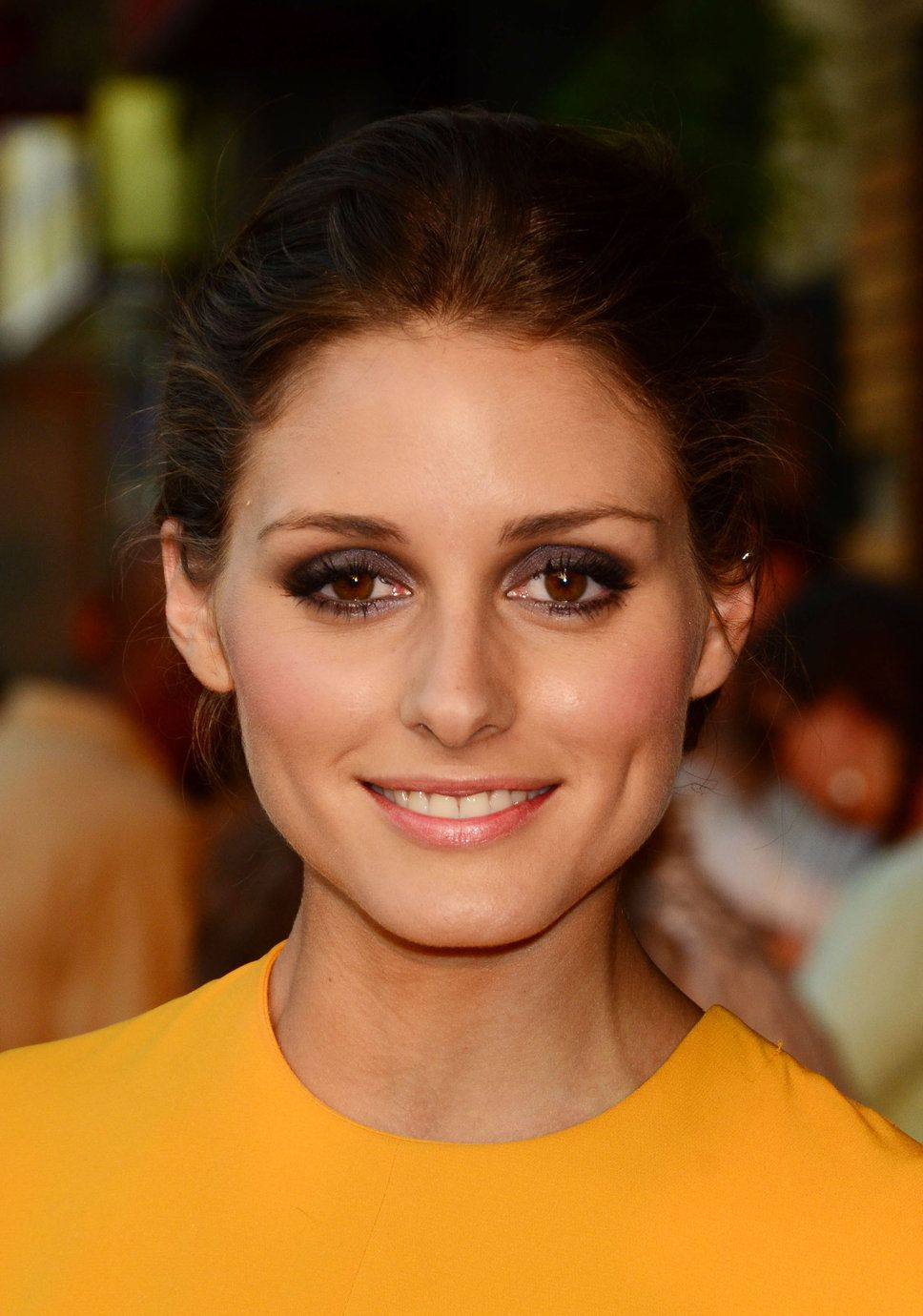 Olivia palermo brown eyeshadow sharp eye makeup evening wedding