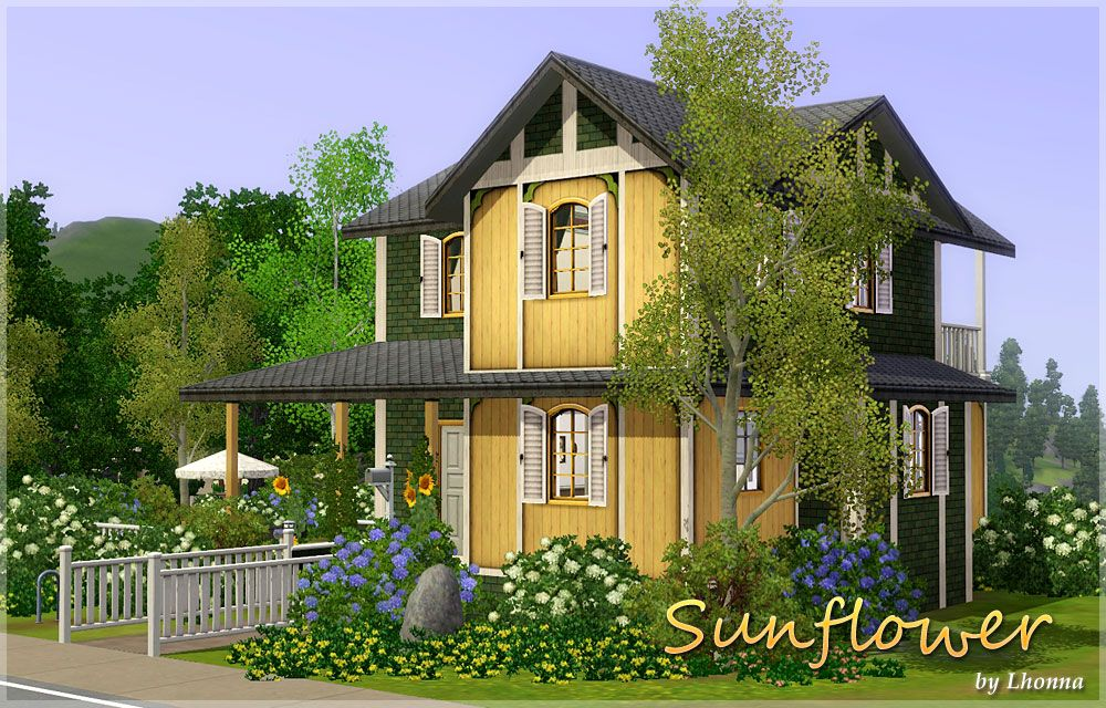 mod the sims - sunflower - small house for a family | sims 3