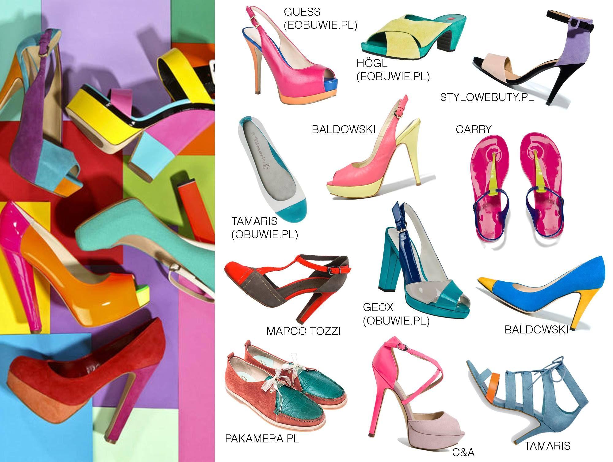 more photos 45d2f 1bad8 tweed showroom shoes color blocking stylowebuty.pl eobuwie ...