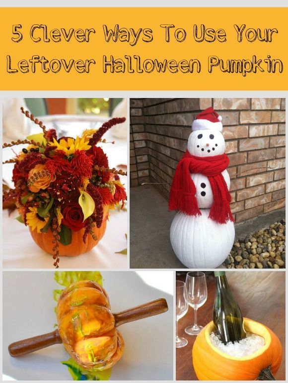 5 Clever Ways To Use Your Leftover Halloween Pumpkin Pumpkin ideas - halloween do it yourself decorations