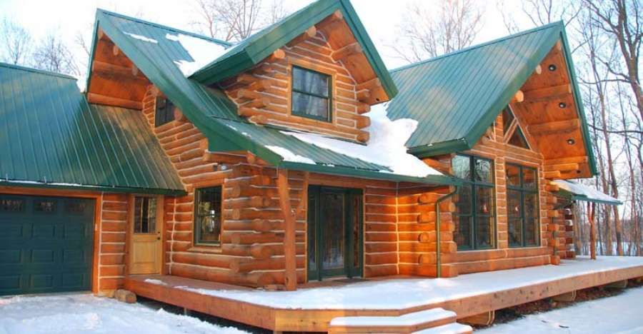 The Keplar Log Home Features Beautiful Interior And Exterior Log Cabin Homes Log Homes Log Home Floor Plans