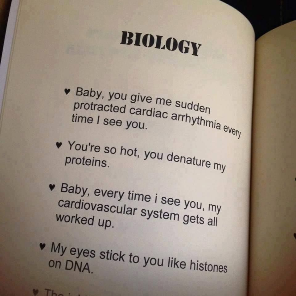 When Scientists Try To Flirt Funny Science Jokes Biology Jokes Science Pick Up Lines