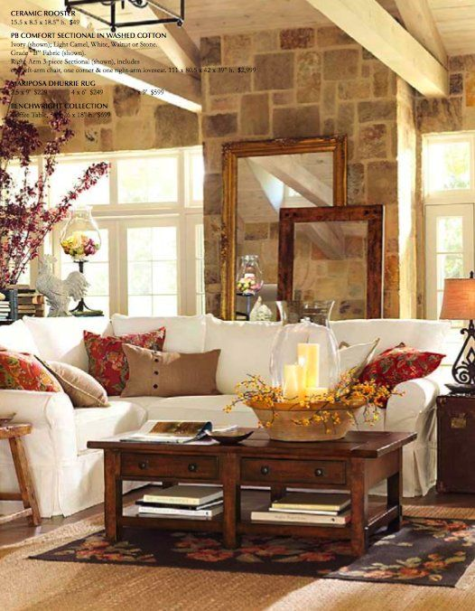 Pottery Barn Fall Preview Gallery Pottery Barn Living Room Cottage Living Rooms Fall Living Room