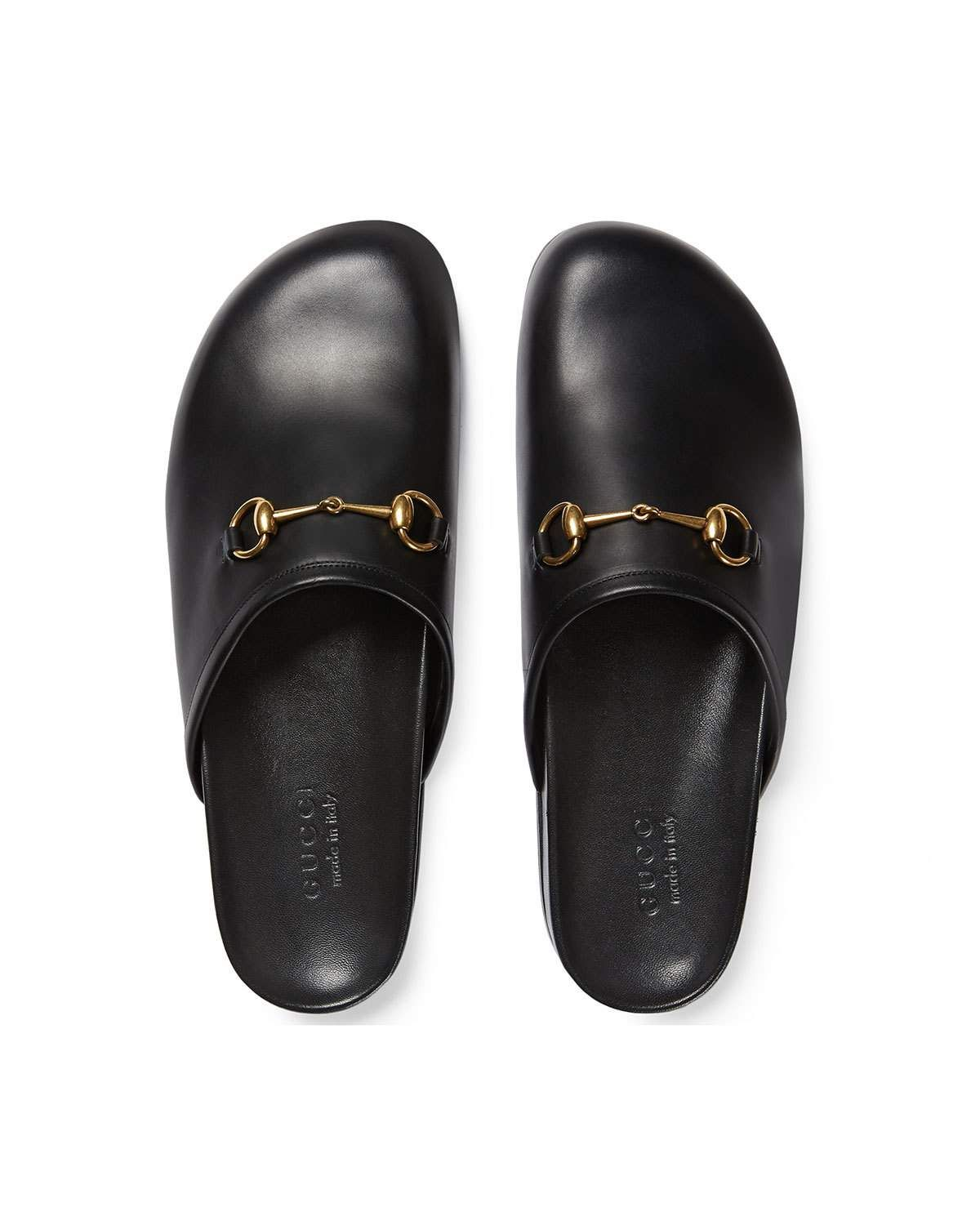 1625825e390 Horsebit Leather Slipper Black | Products | Leather slippers ...