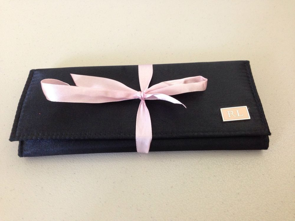 Ralph Lauren Black & Pink Jewelry Roll Watch Case Storage Bag #RalphLauren on eBay!