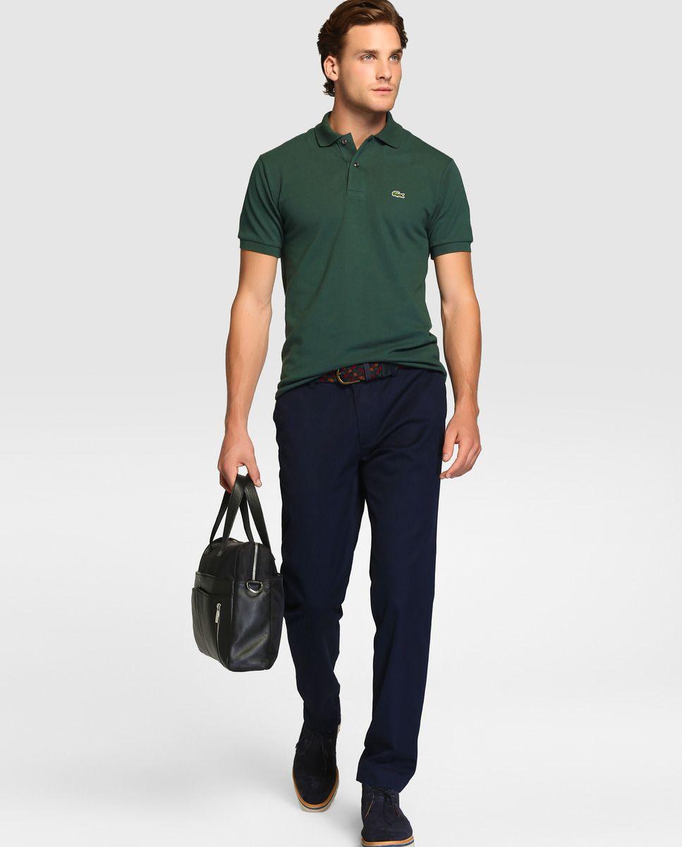 Polo de hombre Lacoste verde de manga corta · Lacoste · Moda · El Corte  Inglés 4530fa0661d