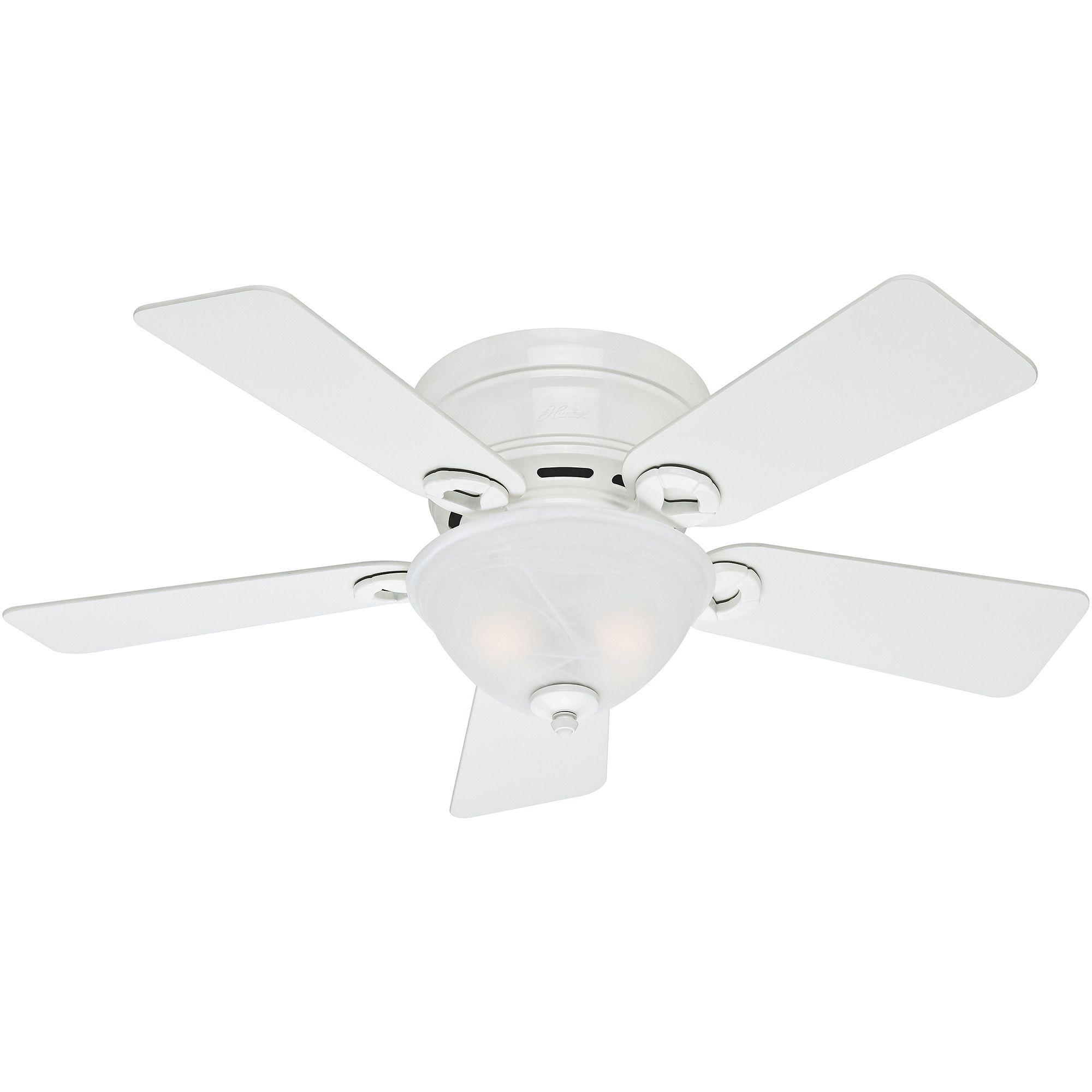 Hunter Flush Mount Ceiling Fans White
