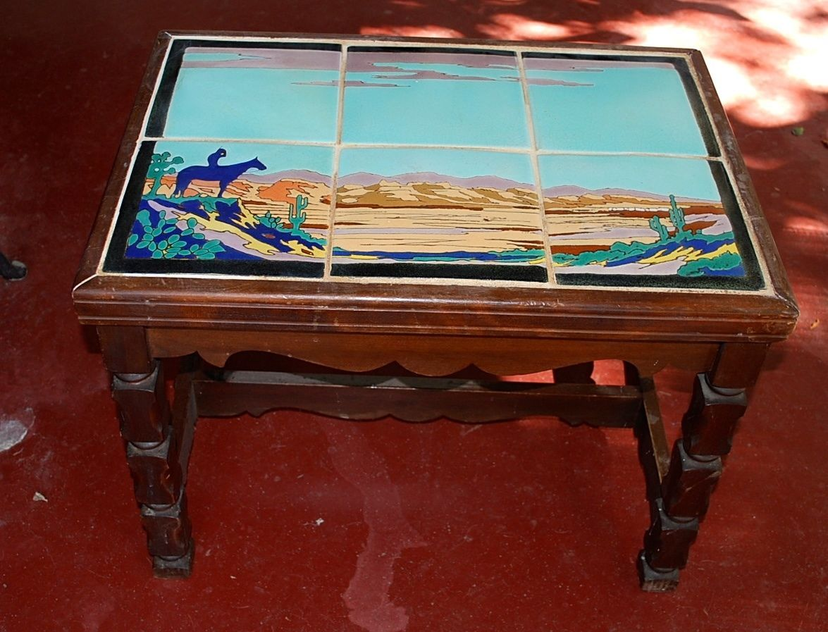 California Tile Table Indian Monterey Style Arts And Craft Catalina Taylor Ebay