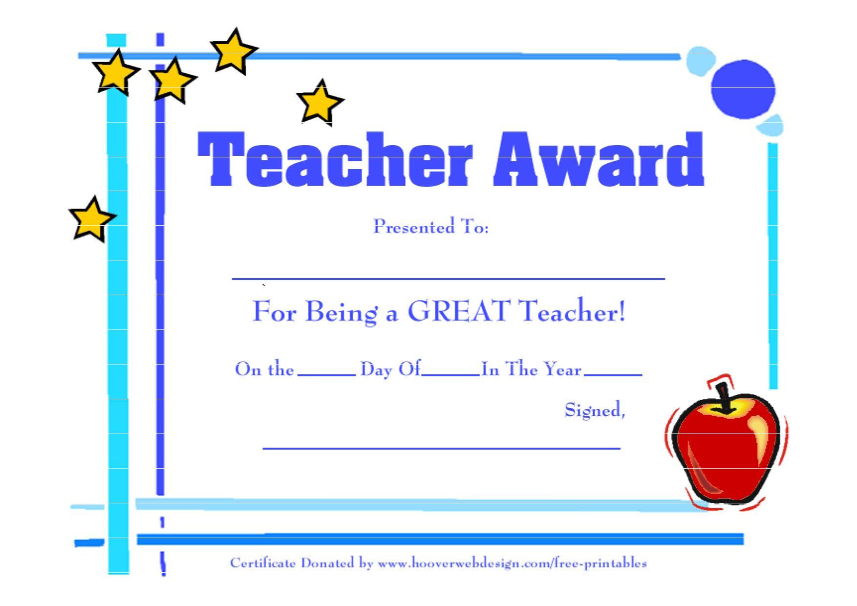 The Marvelous Teacher Appreciation Certificate Free Printable Mahre Within Free Vbs Cer In 2020 Teacher Awards School Certificates Sunday School Teacher Appreciation