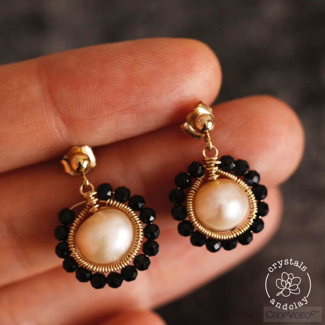Photo of How to make elegant pearl earrings with herringbone weave