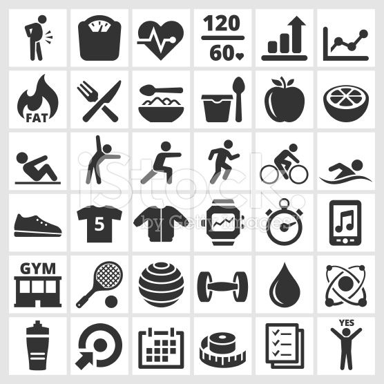 Wellness icon  Fitness and wellness black and white royalty free vector interface ...