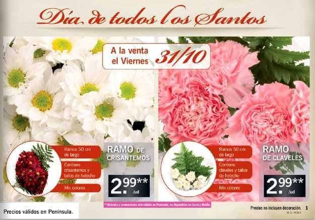ofertas flores de lidl para el día de todos los santos